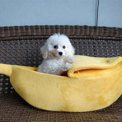 Pet Cat Dog Sofas Bed Banana Shape Dog House Cute Pet Kennel Nest Warm Dog Cat Sleeping Beds House Popular