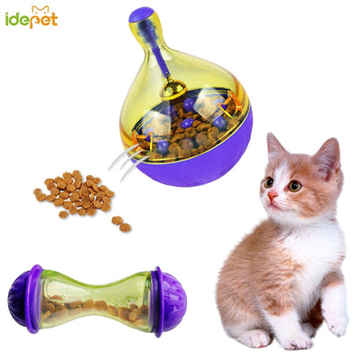 Cat Feeders Food Ball Pet Interactive Toy Tumbler Smarter Cat Playing Toy Treat Ball Shaking for Dogs Increases IQ