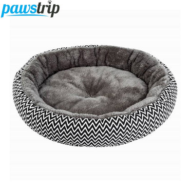 pawstrip Soft Plush Winter Dog Bed Round Cat Bed Warm Puppy Cushion Chihuahua Teddy Small Dog Bed House Pet Bed For Dogs Cat