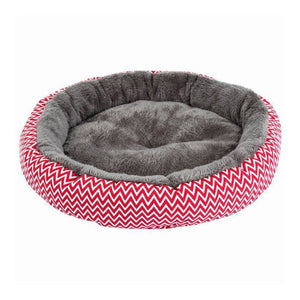 Soft Plush Winter Round Bed