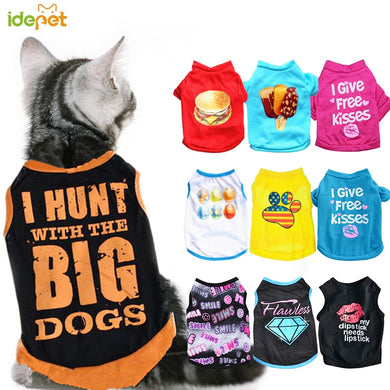 Summer Pet Cat Clothes for Cat Clothing Pet Clothes for Cats Coat Jacket Clothing for Cats Cool Kitty Costume Pet Products 48A1