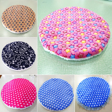 Colorful print  Dog Beds  Warm Soft Blanket For Small Medium Pet Cat Sleeping Mat Mattress Cushion 42x42cm