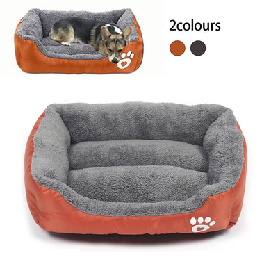 Bed for Large Dog House Dog Bed Paw Pet Sofa Beds for Pet Waterproof Bottom Soft Fleece Warm Winter Cat Petshop Dropshipping