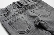 Load image into Gallery viewer, BIKER JEANS - ACID GREY