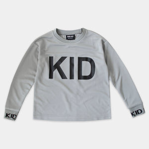 'KID' MESH TEE LONG - GREY