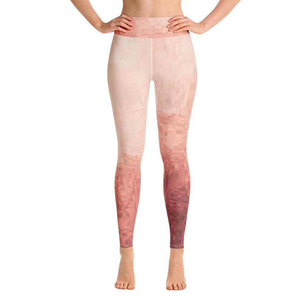 a4acbb2534466 Petal Pusher - Pink Patterned - Yoga Leggings for Women-Women's Yoga .