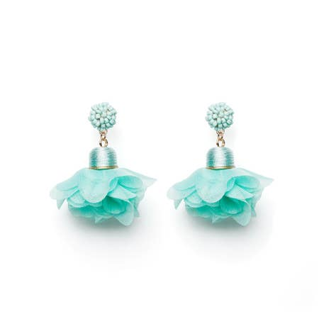 Aqua Spring Earrings - chelsea-the-collection
