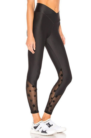 All Star - Black Active-wear Legging with Mesh Insert