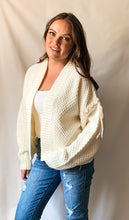 Load image into Gallery viewer, Out West - Cable Knit Cardigan with Fringe