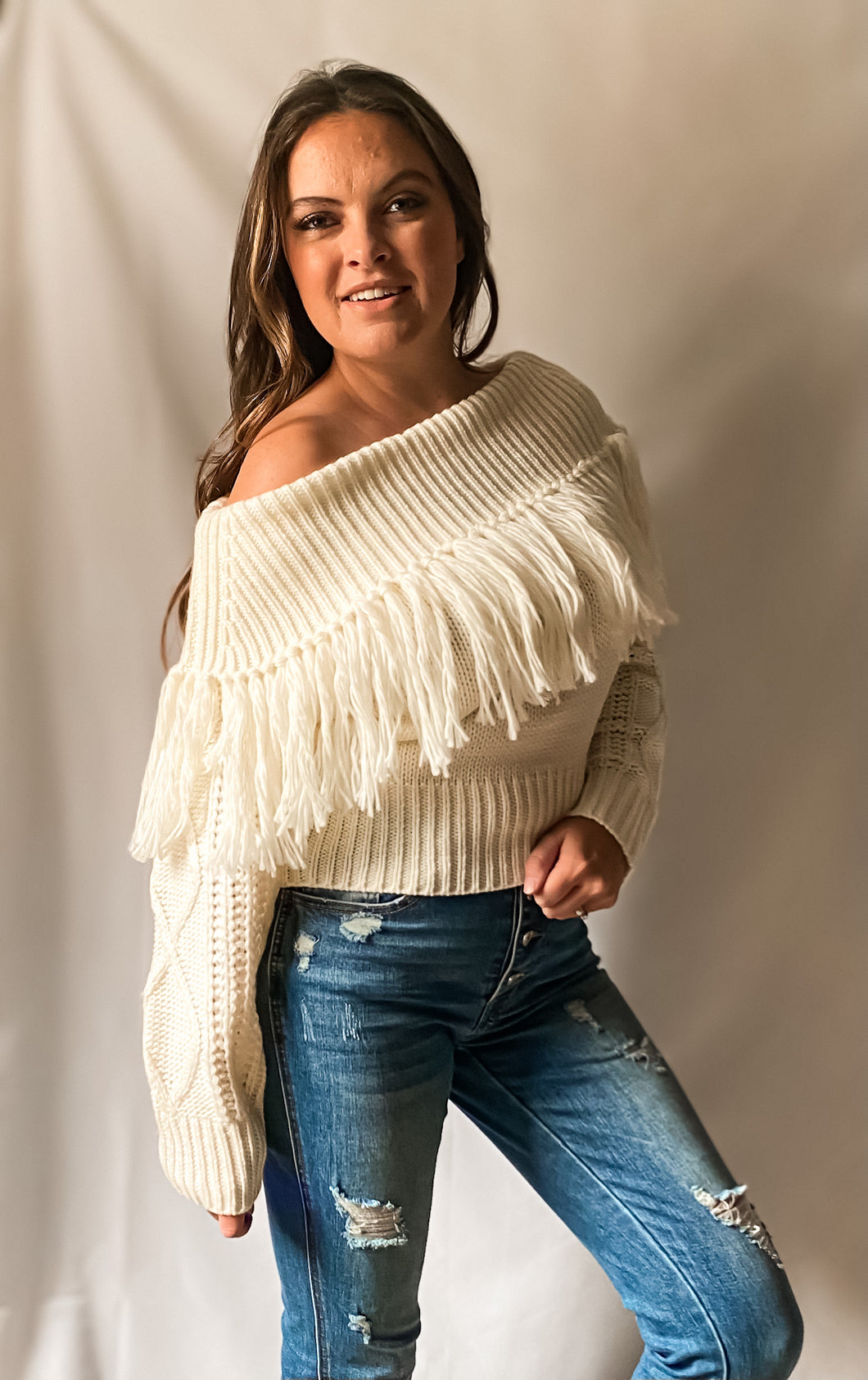 Happy Together - Fringe Knit Sweater