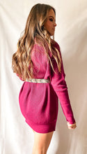 Load image into Gallery viewer, Now or Never - Sweater Dress in Plum