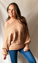 Load image into Gallery viewer, Audrey - Cable Knit Light Mocha Sweater