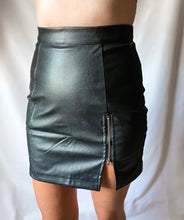 Load image into Gallery viewer, The One That Got Away - Vegan Leather Mini Skirt