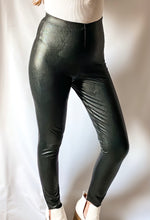 Load image into Gallery viewer, First Impression - Black Vegan Leather Leggings