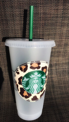 Leopard print LV Starbucks Tumbler - chelsea-the-collection