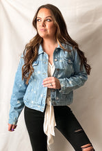 Load image into Gallery viewer, Star Struck - Star Print Denim Jacket