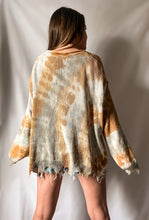 Load image into Gallery viewer, I'm With The Hippies - Tie-Dye Raw Cut Edge Knit Top