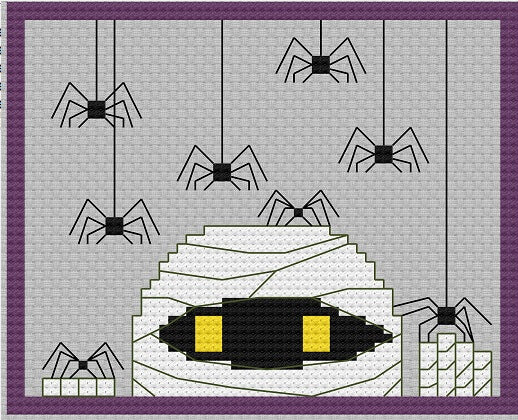Nosy Mummy Free Halloween Cross Stitch Pattern