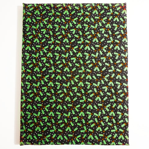 Canvas covered with christmas themed fabric