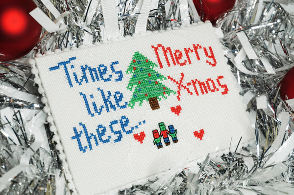 Times like these Cross Stitch ornament