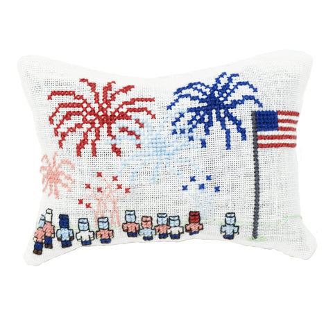 Watching Fireworks Cross Stitch Pattern