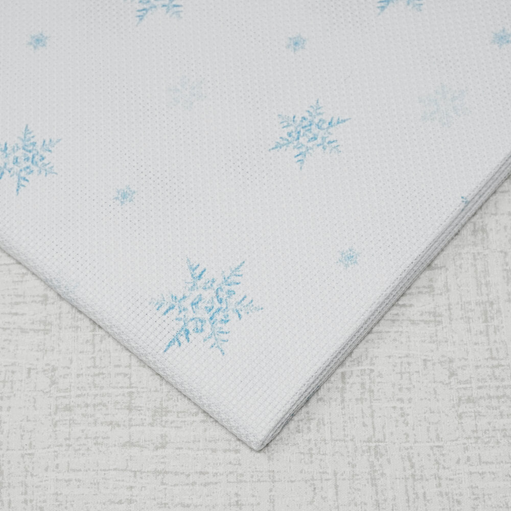 14 Count Snowflakes Aida embroidery fabric