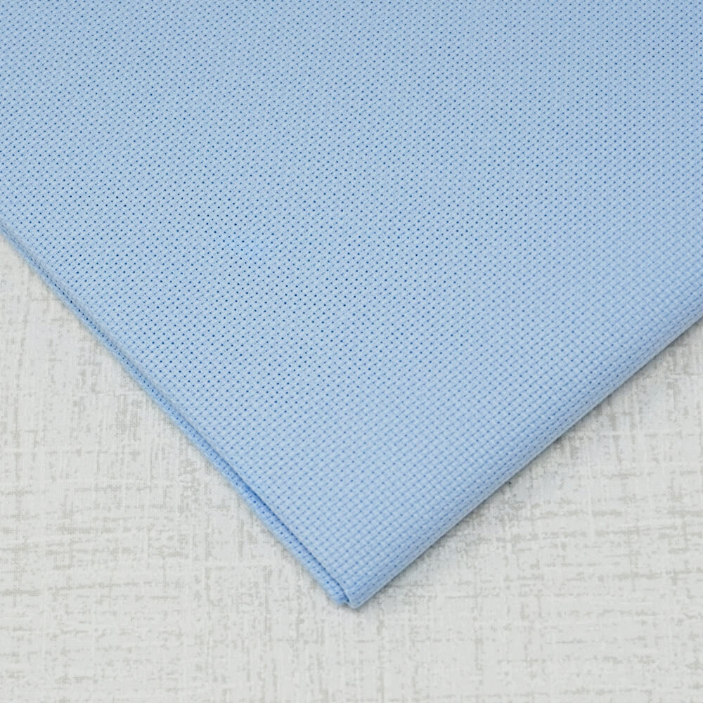 Light blue 18 count aida embroidery fabric