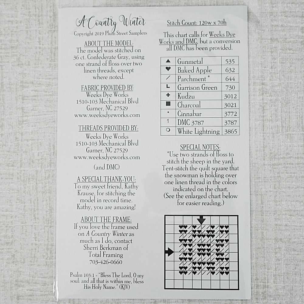 A Country Winter pattern for sale