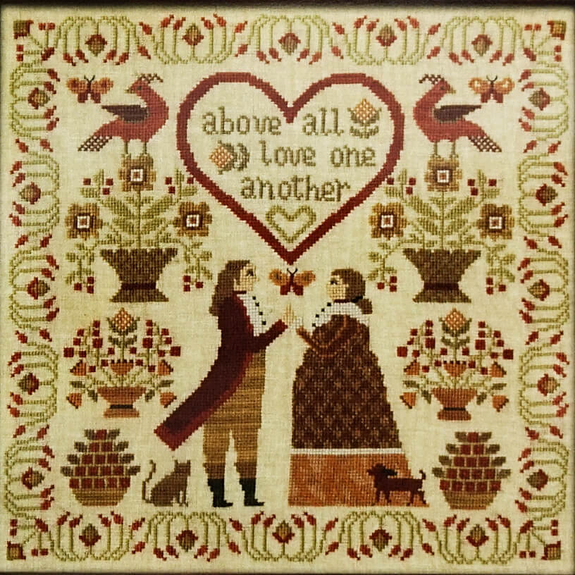 Above All counted cross stitch pattern