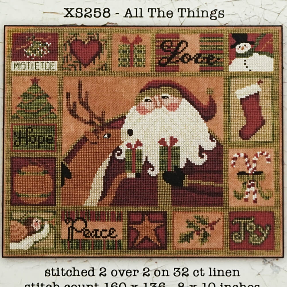 All The Things counted cross stitch pattern