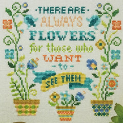 Always Flowers Cross Stitch Pattern | Tiny Modernist