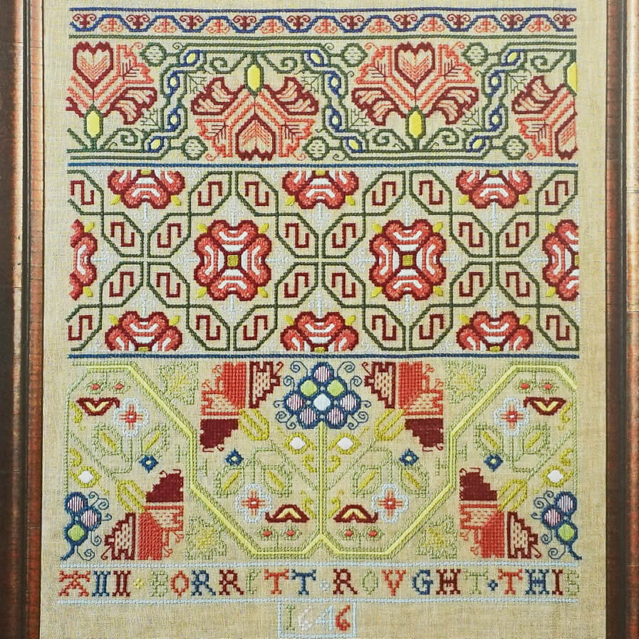 Ann Borrett 1646 reproduction counted cross stitch pattern
