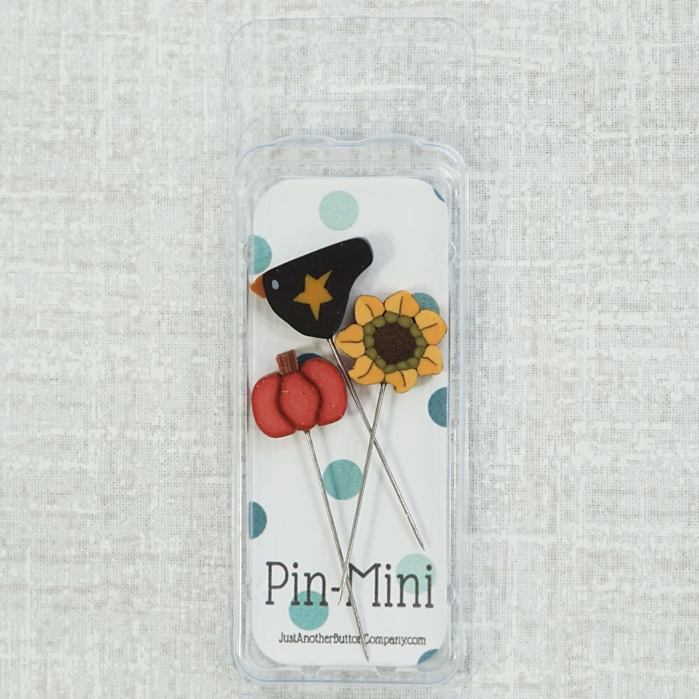 Autumn Pin Mini counted pins top view