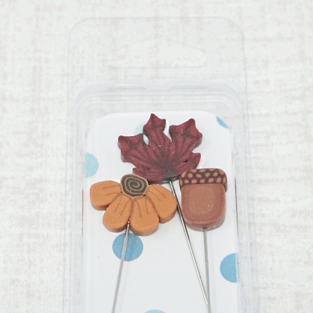 Just Another Button Company Autumn farmhouse counting pins