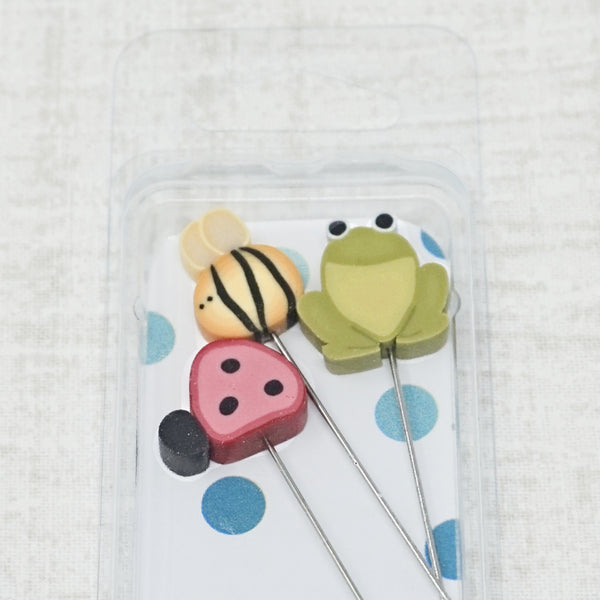3 Decorative Stainless Steel Sewing Pins Just Another Button Company FEELS LIKE AUTUMN Pin Mini Free Lazy Susan Mini-Pinnie Pattern