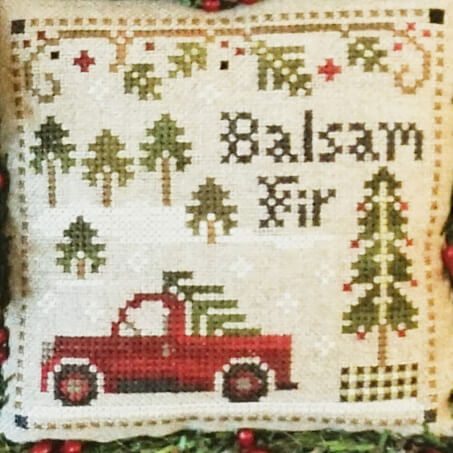 Balsam Fir counted cross stitch pattern