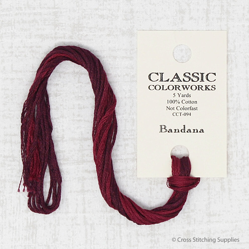 Bandana Classic Colorworks embroidery thread