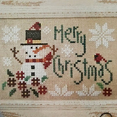 Merry Chirstmas counted cross stitch pattern