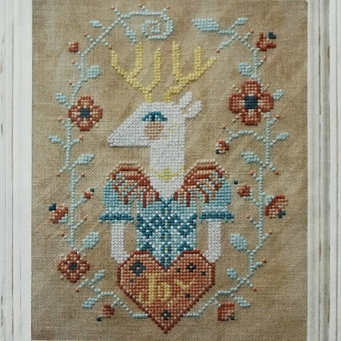 Deer Joy counted cross stitch pattern