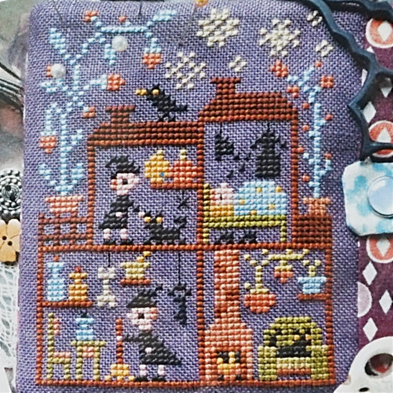 Witch House counted cross stitch chart