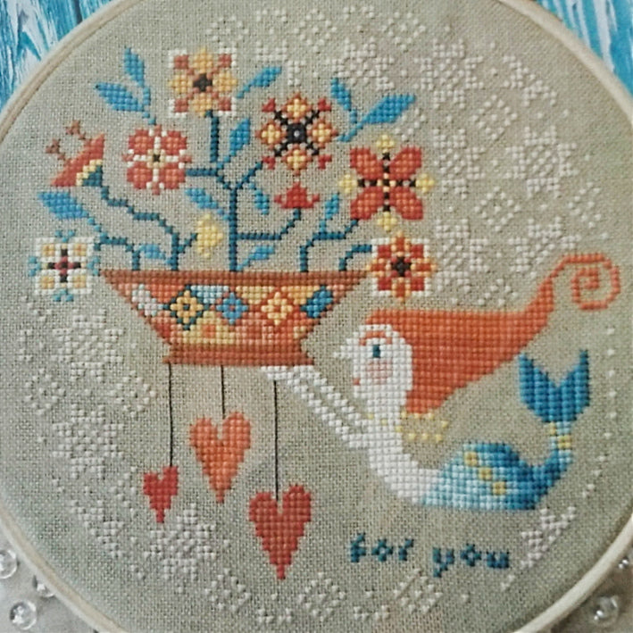 Flowers from the Sea counted cross stitch pattern
