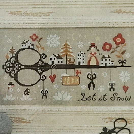 Let it Snow counted cross stitch pattern