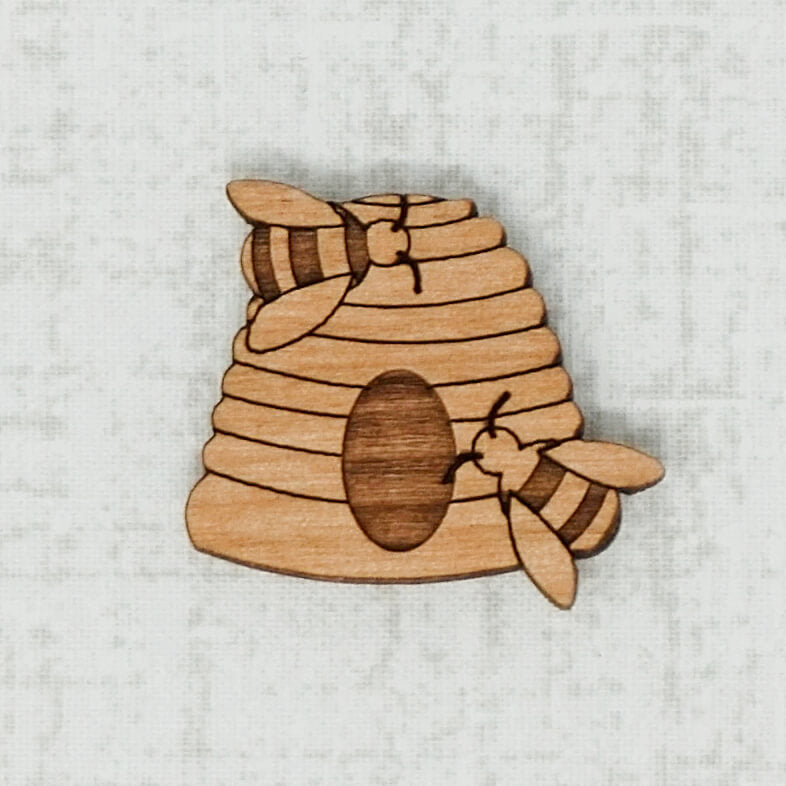 Beehive alder wooden needle minder top view