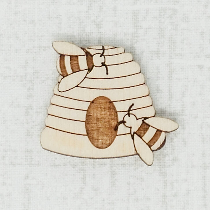 Beehive birch wooden needle minder top view
