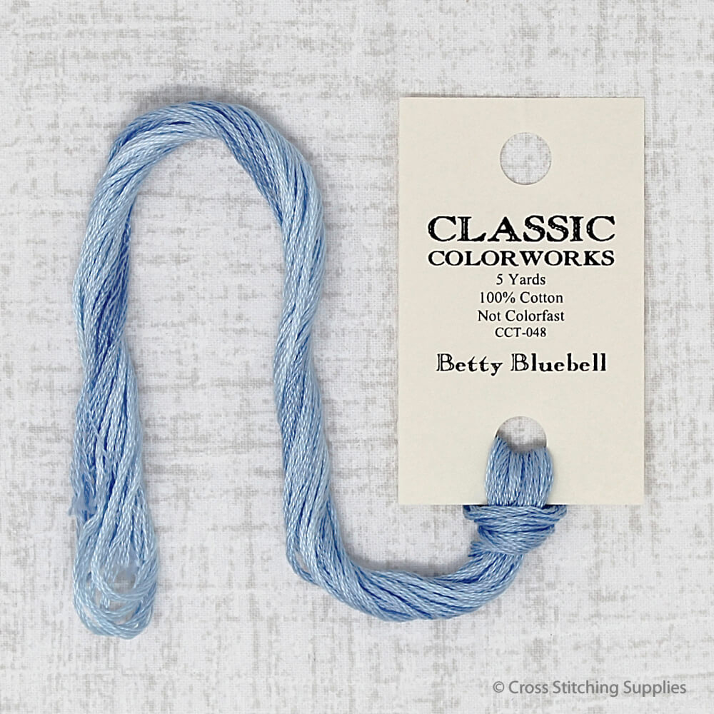 Betty Bluebell Classic Colorworks embroidery thread