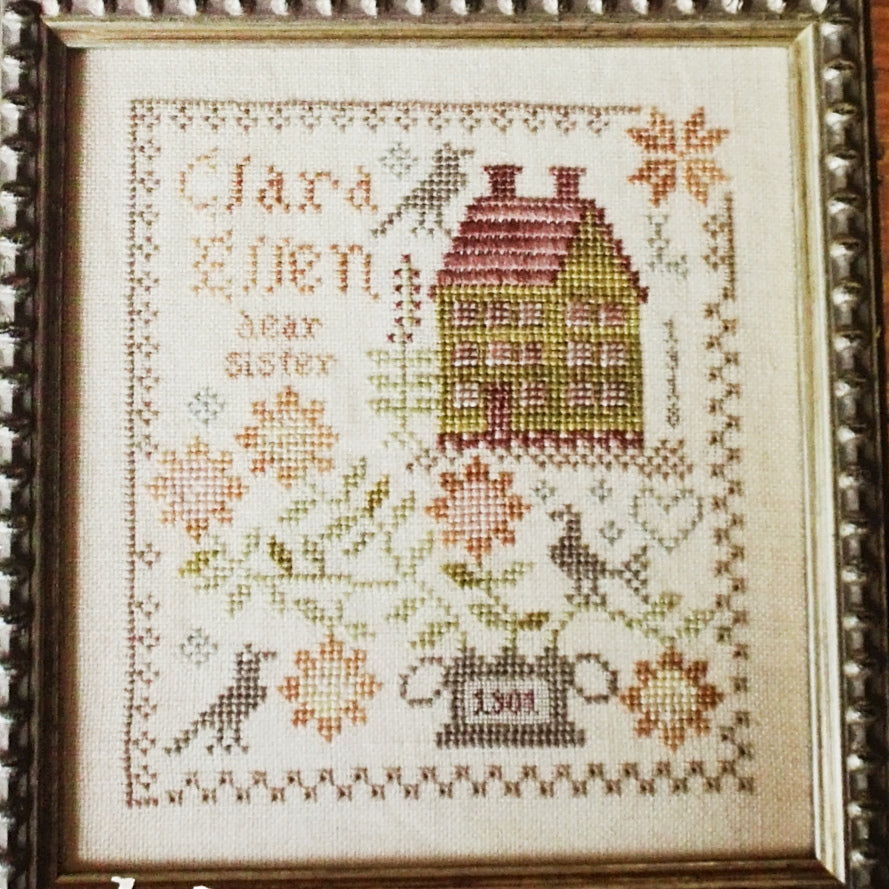Clara Ellen counted cross stitch chart