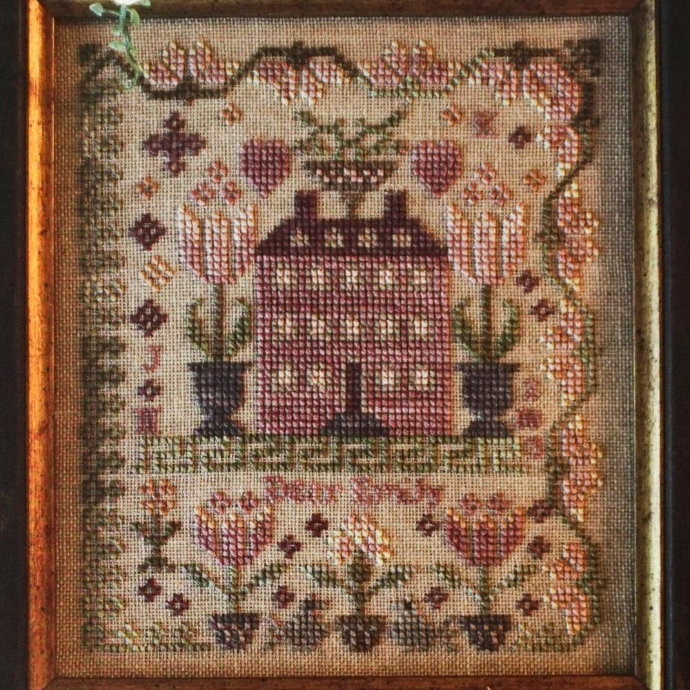 Pink Hill Manor counted cross stitch chart