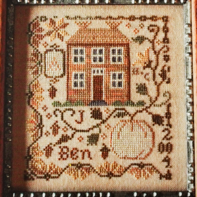 Pumpkin Farm counted cross stitch chart