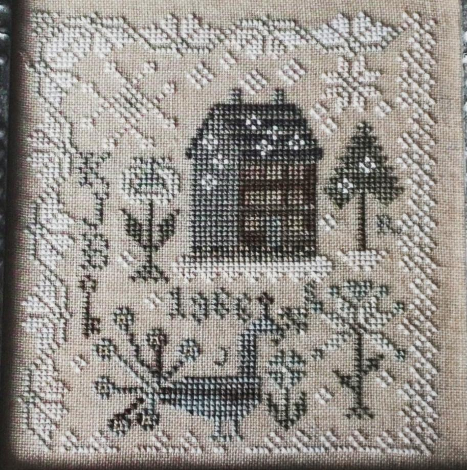 Snow Garden counted cross stitch pattern