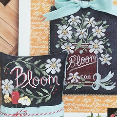 Bloom - Chalk Full Cross Stitch Pattern | Hands On Design